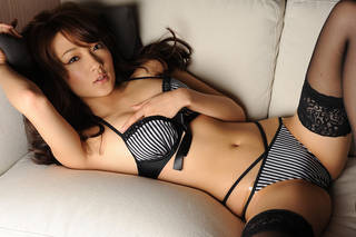 Sexy Japanese girl in lingerie.